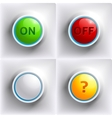 Three colors buttons red green yellow vector image vector image