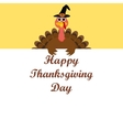 Turkey congratulatory banner on Thanksgiving Day vector image vector image