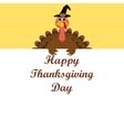 Turkey congratulatory banner on Thanksgiving Day vector image vector image