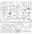 Valentines daywedding iconframesribbon decor vector image