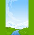 vertical rural summer landscape vector image vector image