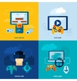 Video Game Flat Set vector image vector image