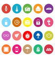 Vintage collection flat icons on white background vector image vector image