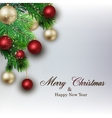 White card with Christmas vector image vector image