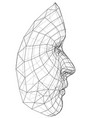 wire-frame abstract human face vector image vector image