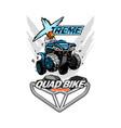 x-treme quad bike atv logo isolated background vector image vector image