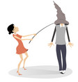 young couple isolated vector image vector image