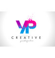 yp y p letter logo with shattered broken blue vector image vector image