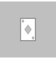 Diamonds card computer symbol vector image
