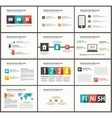 Business Template brochure vector image