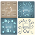 Set of creative web design templates vector image