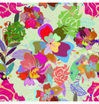 floral seamless color vector image