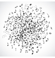 Abstract musical dot with black notes on white vector image vector image