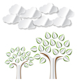 abstract paper trees vector image vector image