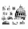 architectural features vector image