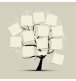 Art tree with papers for your text vector | Price: 1 Credit (USD $1)