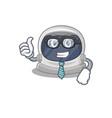 astronaut helmet businessman wearing glasses