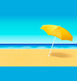 beach umbrella on a deserted beach near ocean vector image
