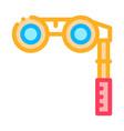 binoculars icon outline vector image vector image