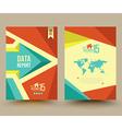 brochure template design business graphics vector image vector image