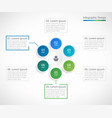 business infographic design template with 6 steps vector image vector image