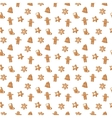 Christmas cookie seamless pattern icon vector image vector image