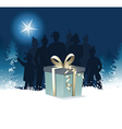 Christmas night gift vector image