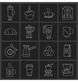 Coffee icons outline set vector image vector image