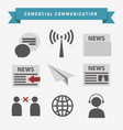 commercial connection icon set vector image