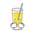 crying lemonade mascot cartoon style vector image vector image