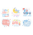 cute hand drawn decor elements with motivation vector image