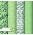 Decorative waves seamless patterns set vector image vector image