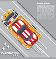 evacuation car road service help vector image vector image
