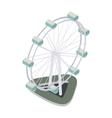 Ferris wheel icon isometric 3d style vector image vector image