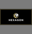 ga hexagon logo design inspiration vector image vector image