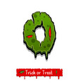 halloween green color comic horror zombie font vector image vector image
