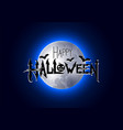 halloween with happy halloween lettering vector image