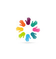 hands together heart symbol vector image