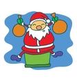 Happy Santa cartoon Christmas theme vector image