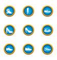 horseshoe icons set flat style vector image vector image