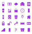 house related gradient icons on white background vector image