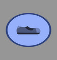 icon in flat design fashion footwear man shoe vector image