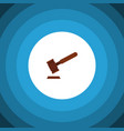 isolated tribunal flat icon justice vector image vector image