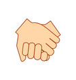 keep hands showing different gestures cramped vector image vector image