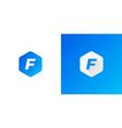 letter f logo design modern f logo vector image vector image