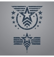 Military style emblem set vector image vector image