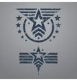 Military style emblem set vector image