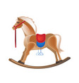 modern colorful children s toys horse rocking vector image vector image