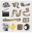 movie equipments colourful collection vector image