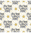 new year new start seamless pattern with modern vector image vector image